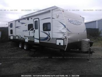 Salvage Keystone Springdale Travel Trailer